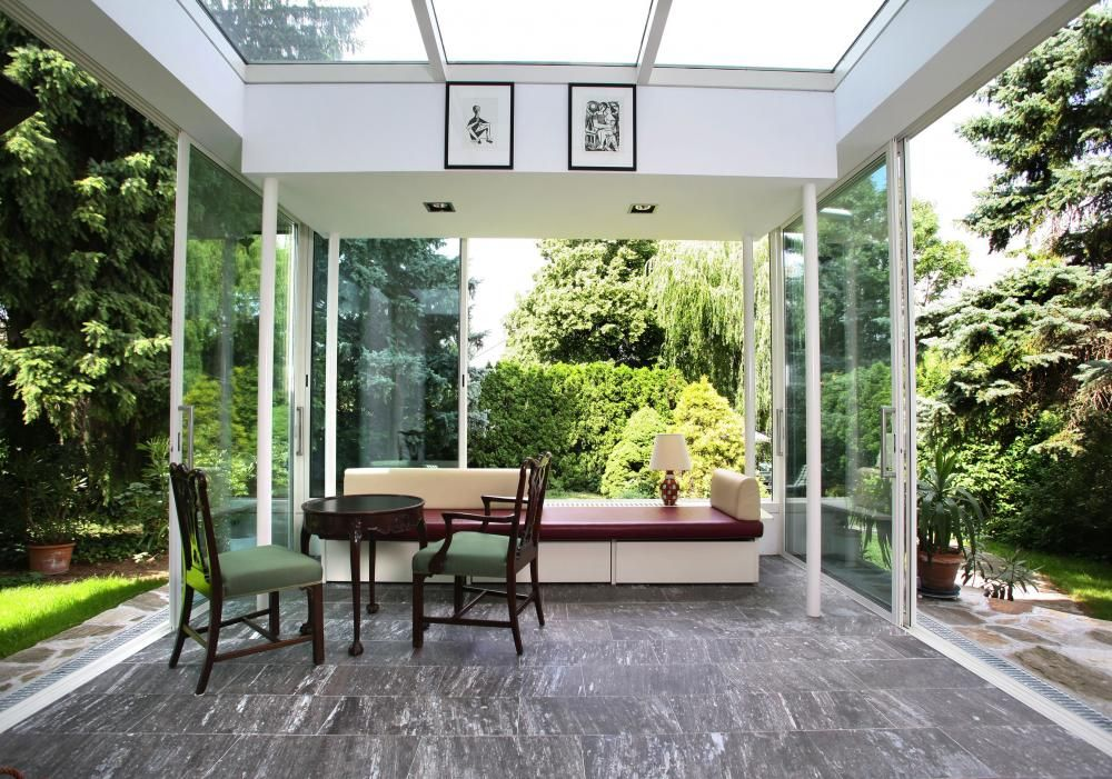 Lüftung, Heizung und Sonnenschutz für den Wintergarten - wohnzimmer gemutlich warm