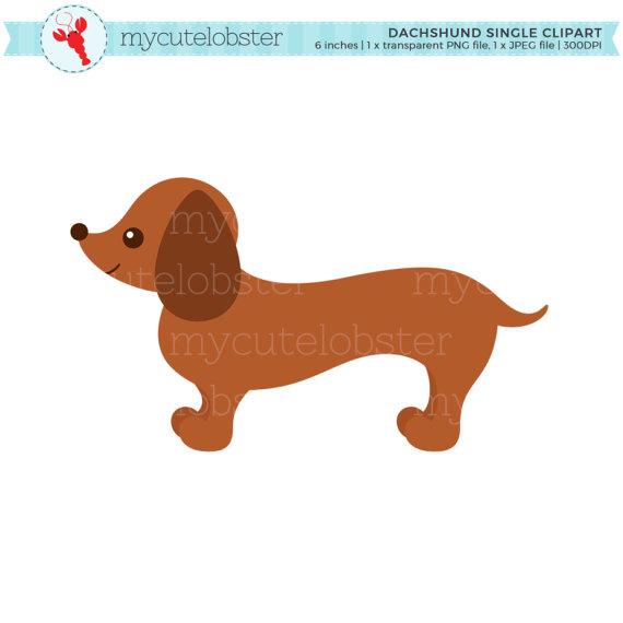 Dachshund Single Clipart Sausage Dog Clip Art Cute Dog Dog Etsy Dog Clip Art Dog Clip Dachshund