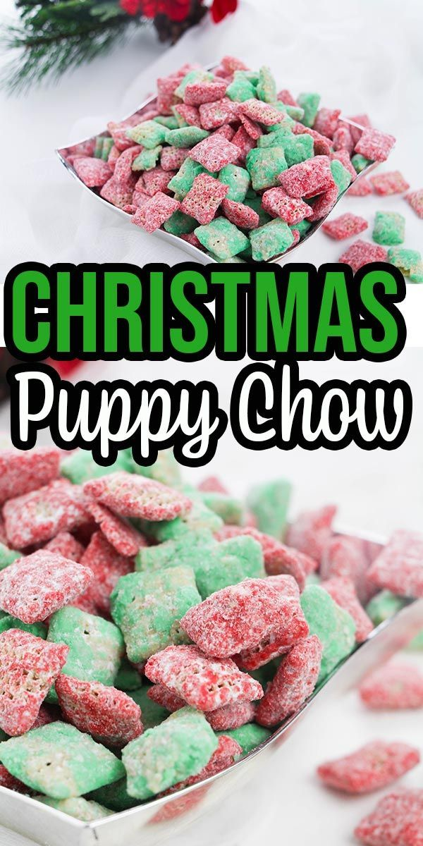 Christmas Puppy Chow Recipe Puppy chow recipes, Puppy