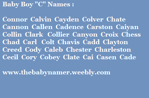 Tag C Is It For Baby Boy Names 2014 15