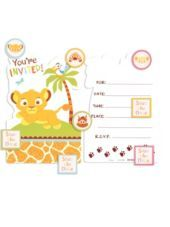 Lion King Baby Shower Invitations Party City Pregnancy