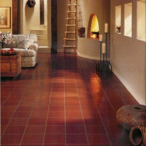 Red Vinyl Floor Tiles Kitchen