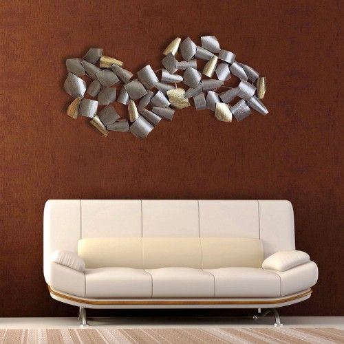 Abstract Curved Metal Wall Decor Hangings