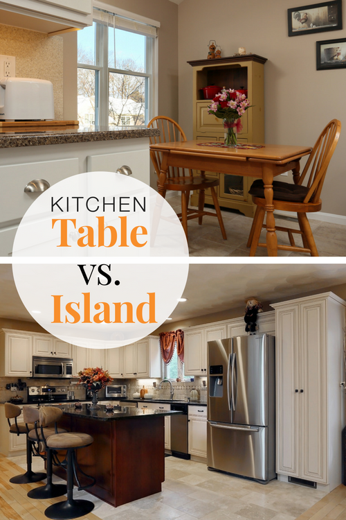 The Kitchen Island Vs The Kitchen Table Kitchen Island With Seating Kitchen Table Table