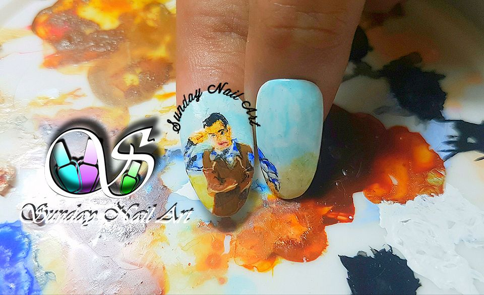 Tubelight Movie Posters Recreation By Sunday Nail Artportrait Nail