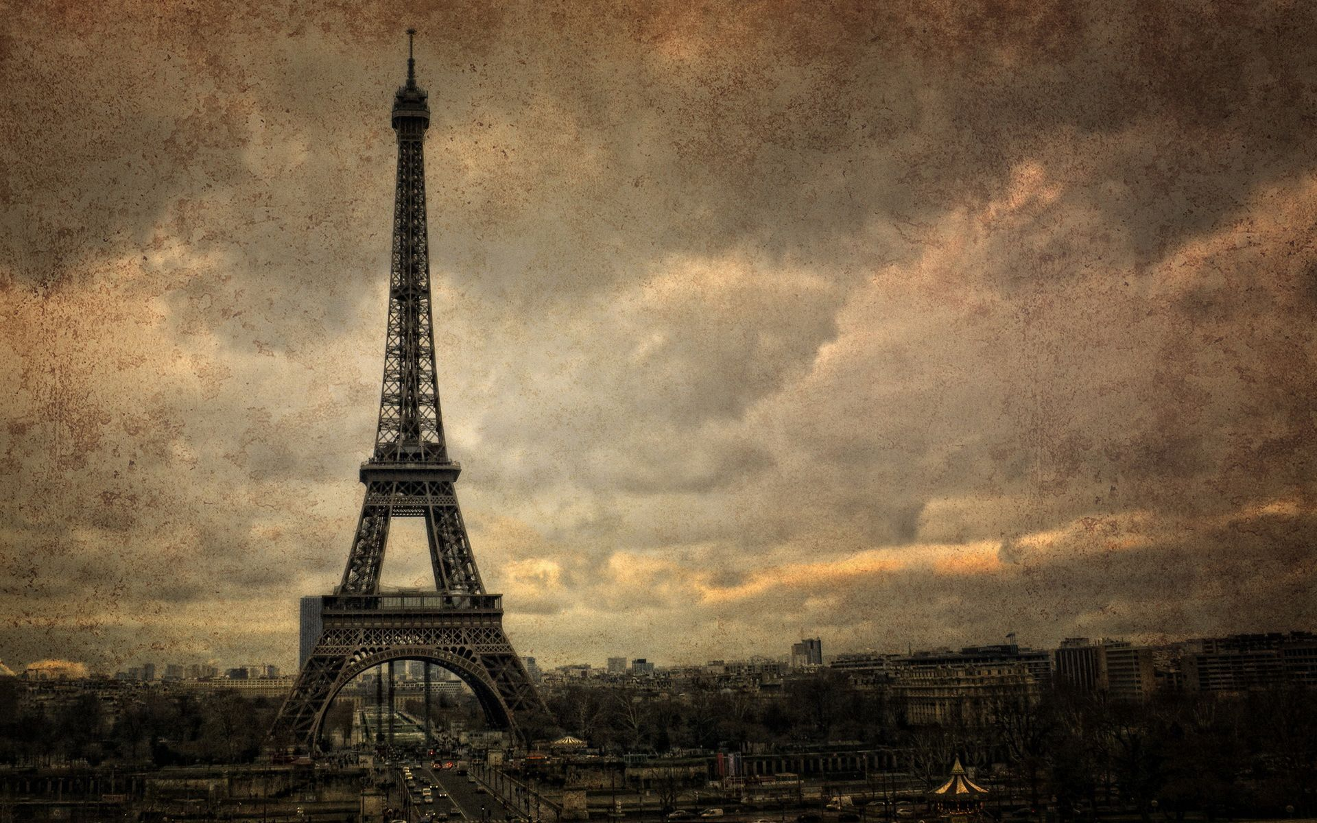 Vintage Photo Of The Eiffel Tower Is An Hd Wallpaper
