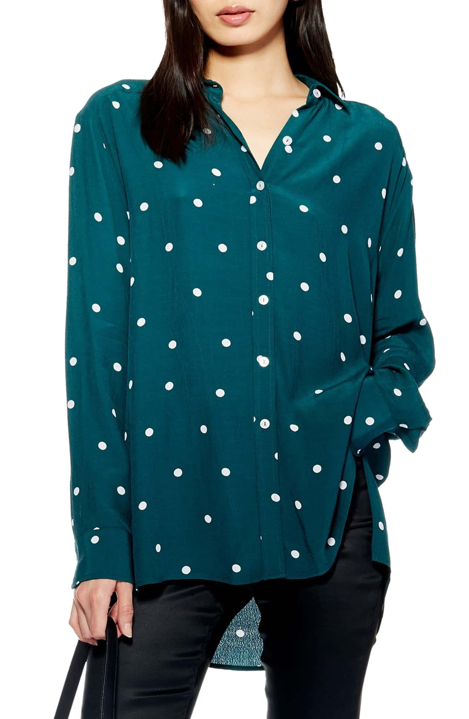 73954165005a8d Oversize Spot Shirt, Main, color, GREEN MULTI | Want in 2019 ...
