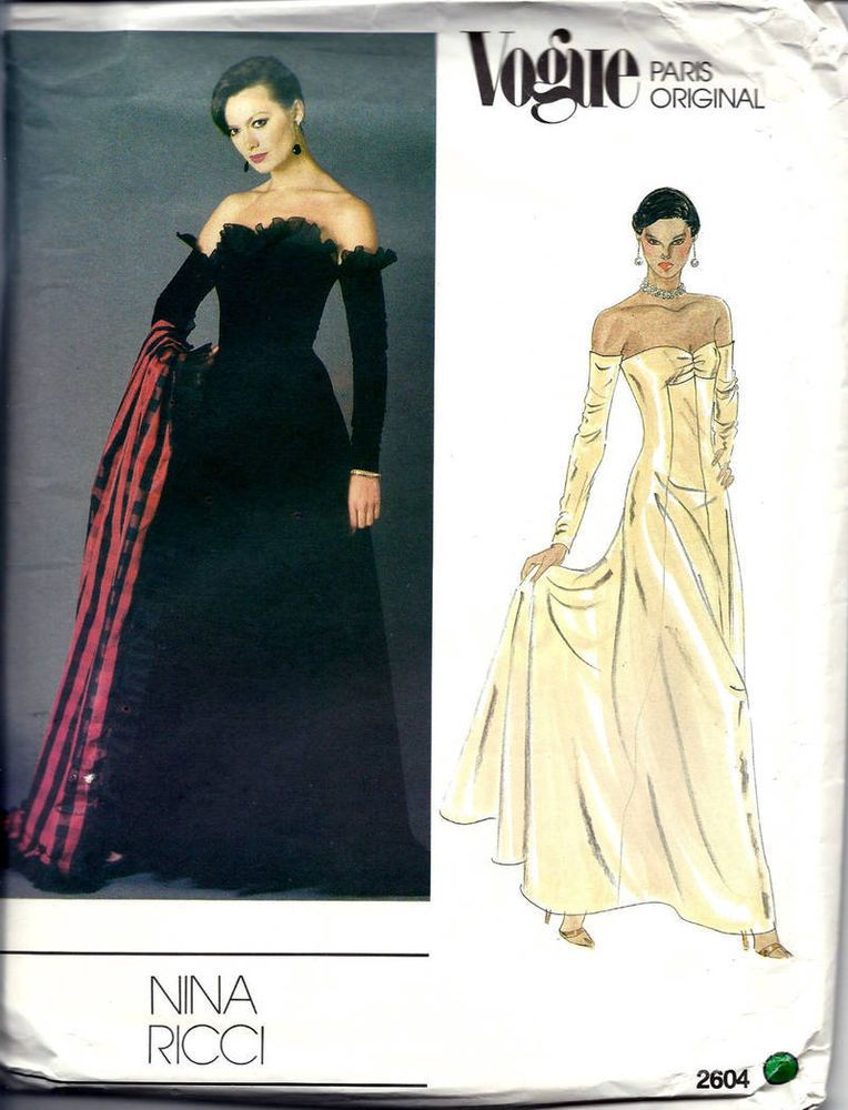 Vogue Paris Nina Ricci Dress Amp Stole Ball Gown Pattern