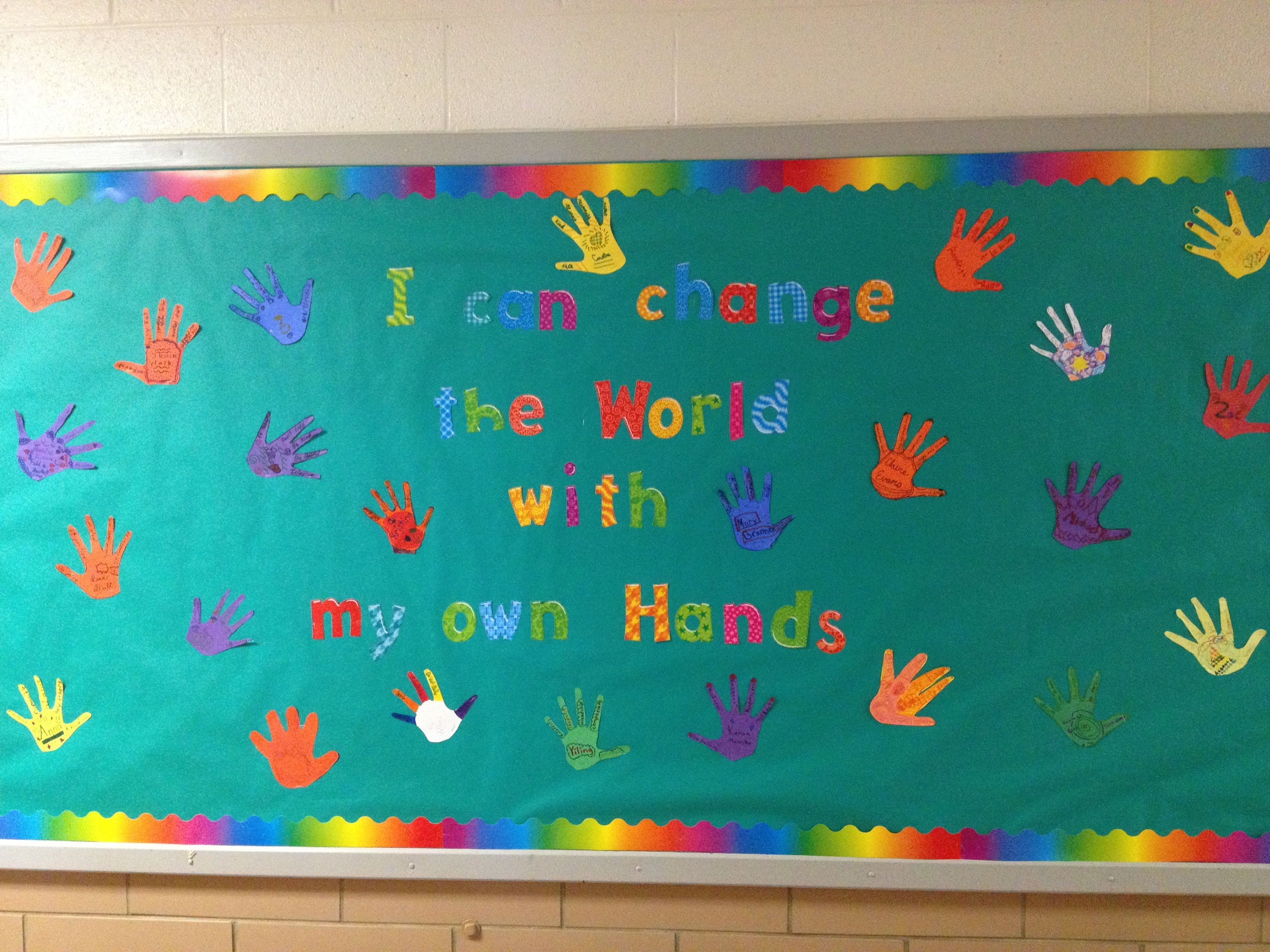 Rachel S Challenge Bulletin Board For The New Year