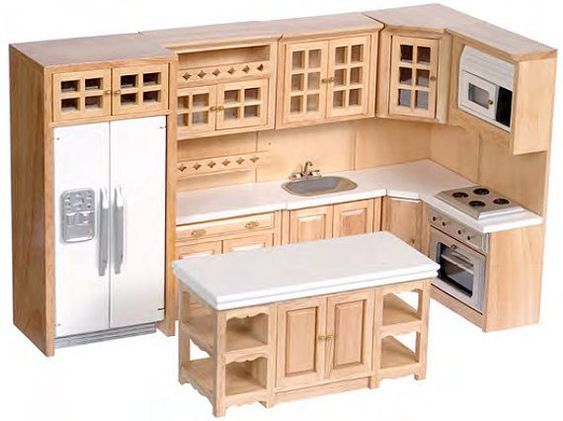 Colección de cocina premium de 1:12 escala (blanco/oak/nogal/camisetas de mármol) #kitchencollection