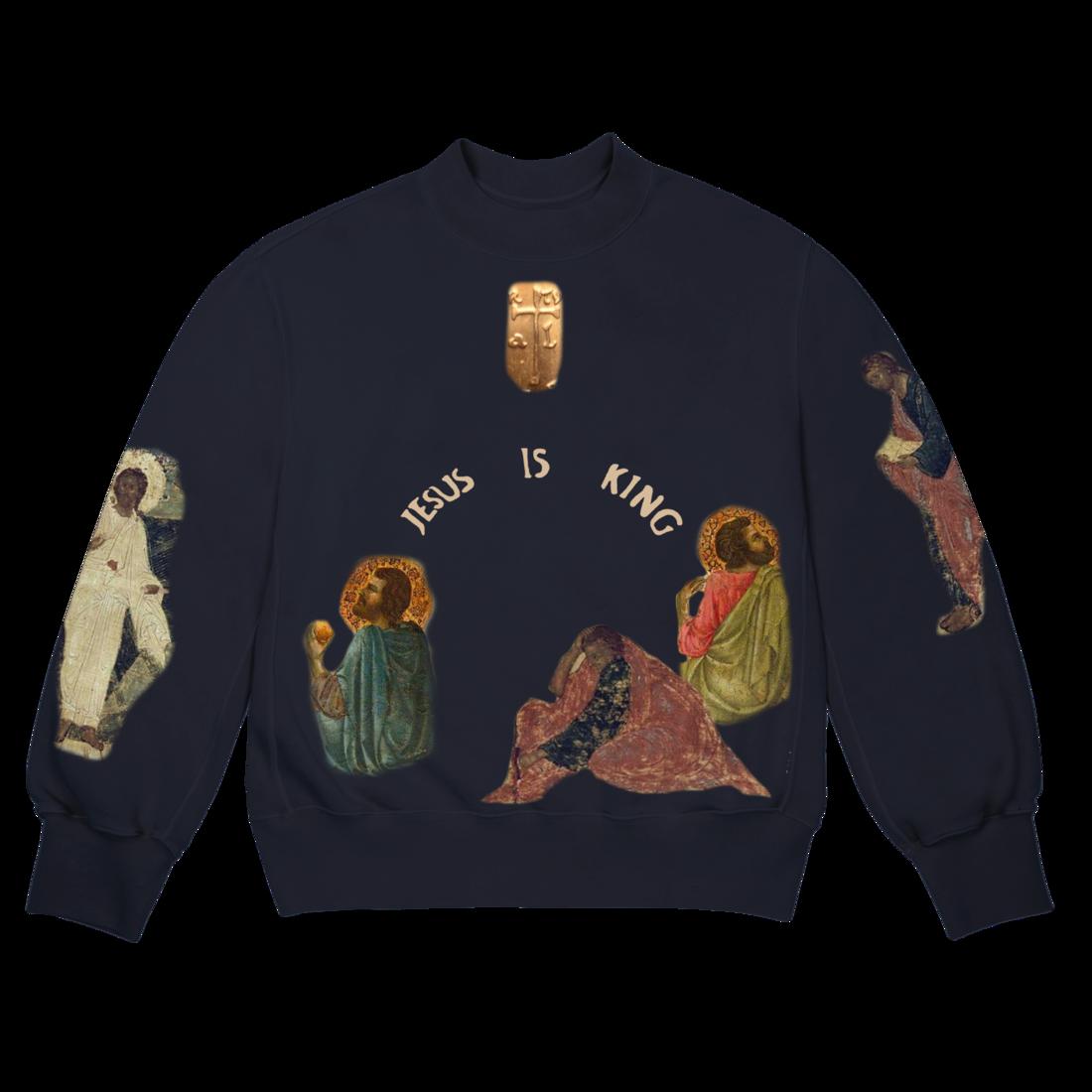 Jesus Is King Cross Crewneck Ii Kanye West Kanye West Store Kanye West La Outfits