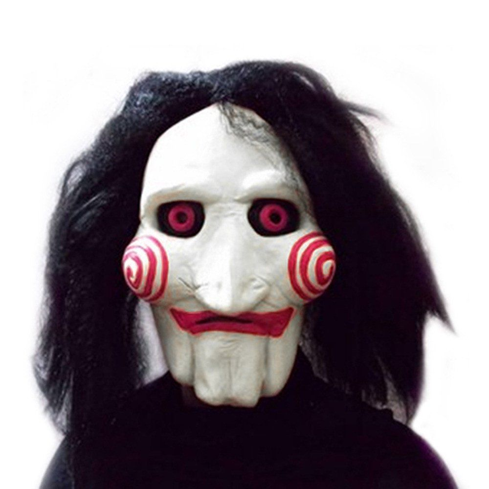 Movie Saw Chainsaw massacre Jigsaw Puppet Masks Latex Creepy ...
