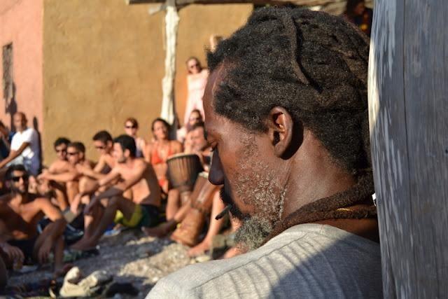 Atardecer en la cala de Benirrás (Ibiza)
