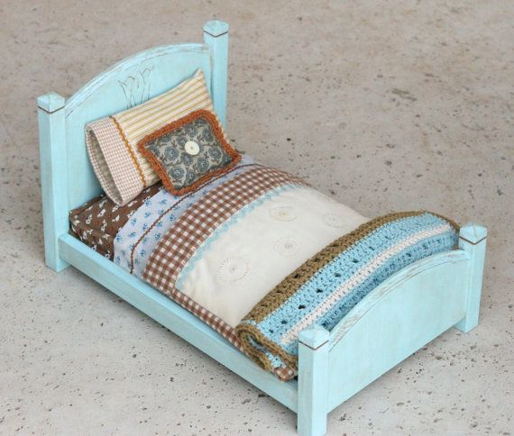 The Avery Bed with carved flower by HartzellandNicole on Etsy, $210.00