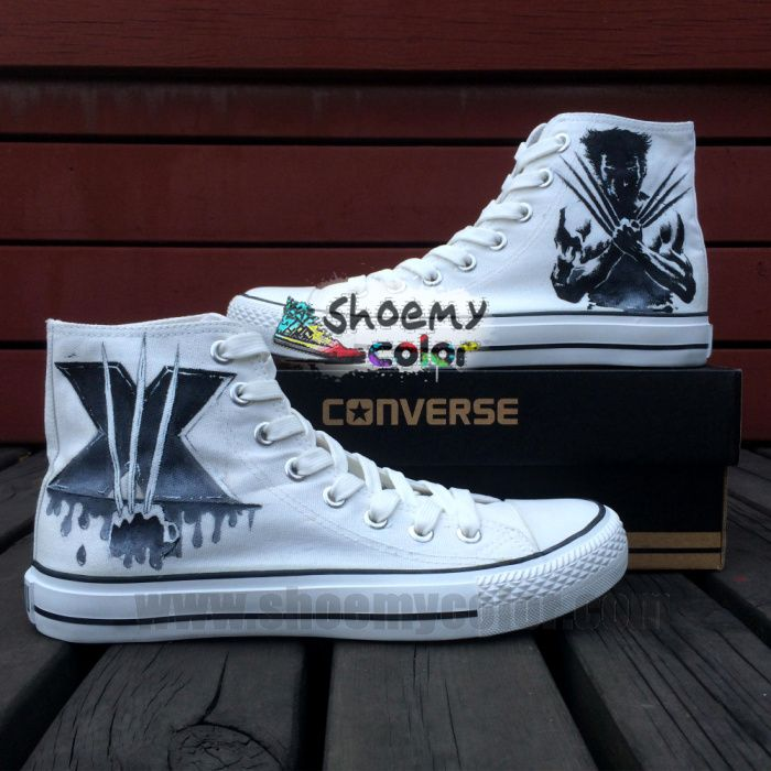 3e60a724bba5 X-Men Wolverine High Top Converse Canvas Shoes Hand painted Sneaker for Women  Men