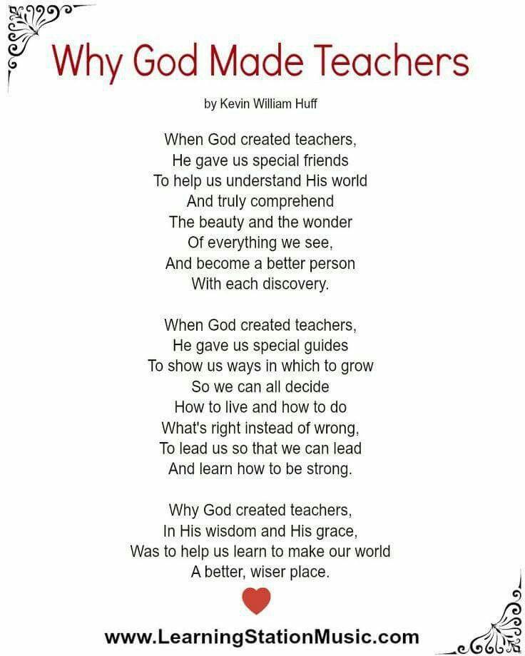 Why God Made Teachers Teacher Poems Teacher Encouragement Sunday School Teacher