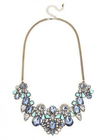 Marine Contessa Bib Necklace | BaubleBar | vanity | Jewelry