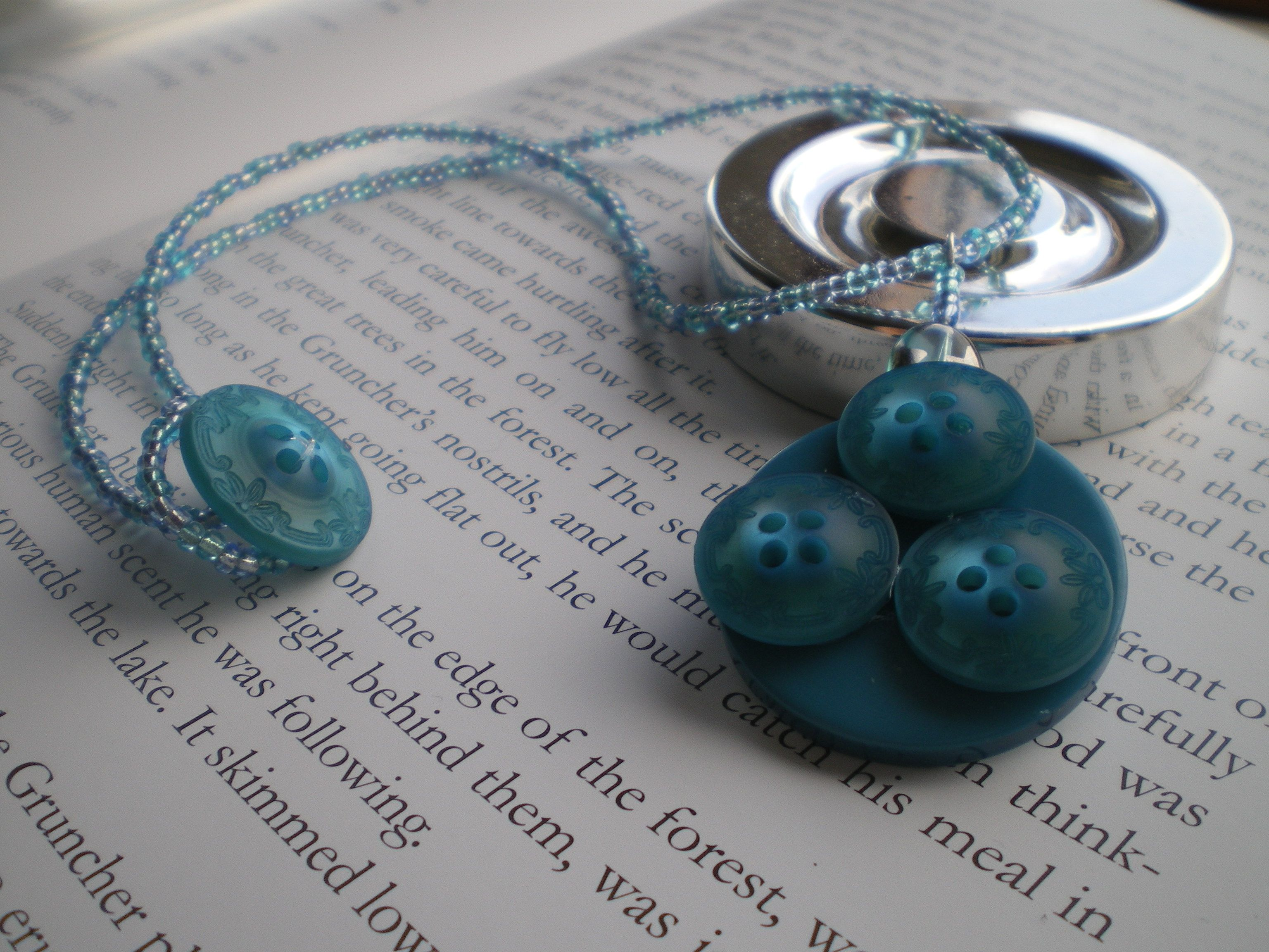 Blue Button Moon By Starlet Creations