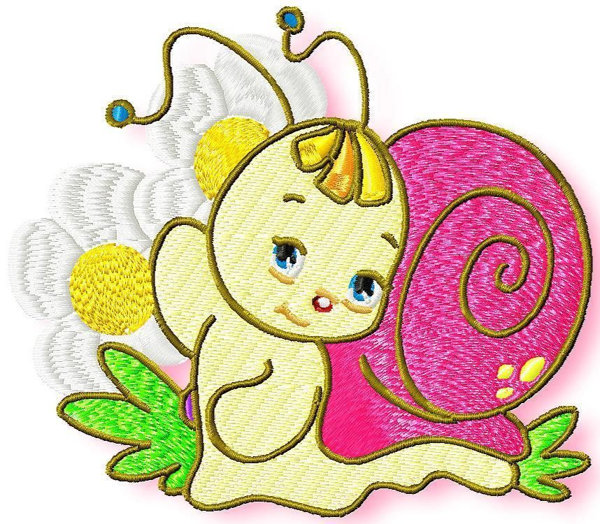 Suzie Snail 10 Machine Embroidery Designs Cd 2 Sizes Stickdateien