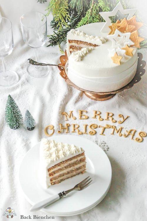 Winterzauber - eine einfache Weihnachtstorte mit Gewürzen / Adventskalender Türchen 9 - Sa
