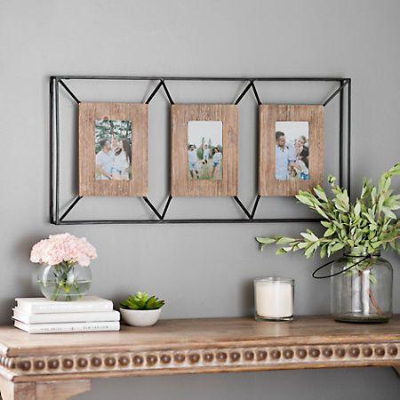 55e735178694d926deba01da5ec80a5d - Better Homes And Gardens 4 Opening Rustic Windowpane Collage Frame