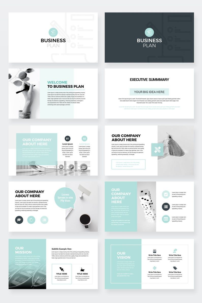 Modern Business Plan Google Slides Template Editable