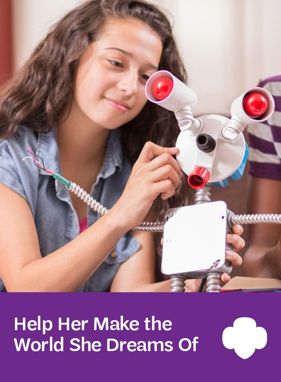 Help Her Make the World She Dreams Of: Her imagination and natural curiosity will shine when she tries these projects! #parenting #STEM #raisinggirls #GirlScouts