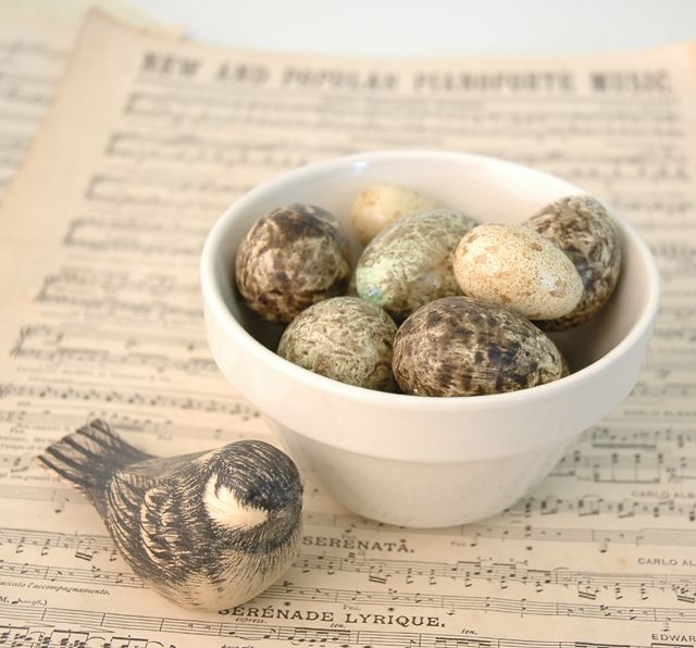 East of India Hand Painted Wooden Eggs (Codes 650-663) and Little Bird (Code 15)