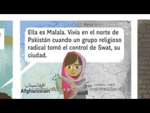La Historia De Malala Yousafzai En Comic Youtube Historia De