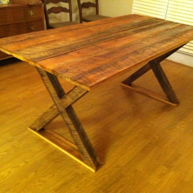 Rustic Pine Table Rough Sawn Wood Furniture I Made