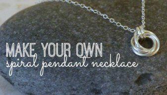 Jewelry Tutorial: DIY Spiral Pendant Necklace
