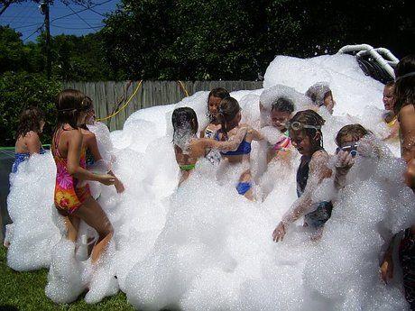 foam party outside