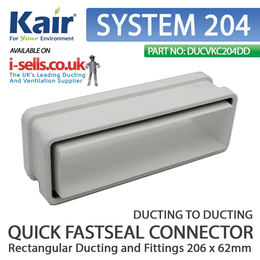 Pin on SYSTEM 204 Ducting and Fittings 204x60mm