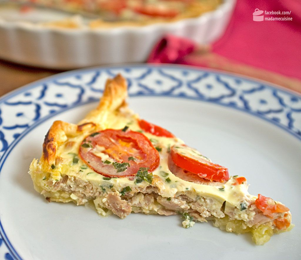 Photo of Quiche mit Thunfisch und Tomaten – Madame Cuisine
