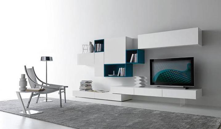 Pareti attrezzate in stile moderno 50 idee per organizzare parete ...