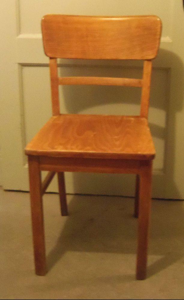 Alter Kuchenstuhl Holz Stuhl Bauhaus Stuhl Gropius 2 Stuhle