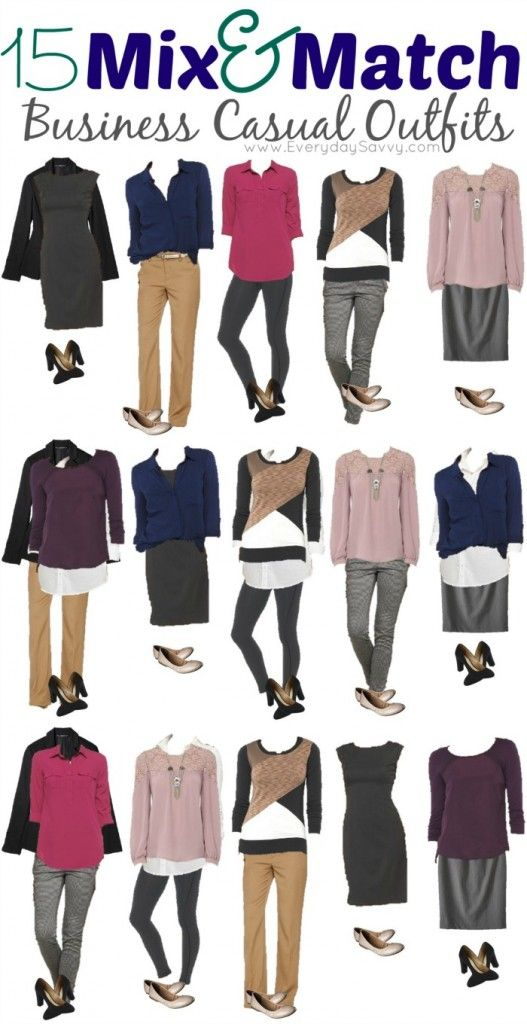 15 Mix And Match Business Casual Outfits From Target Business