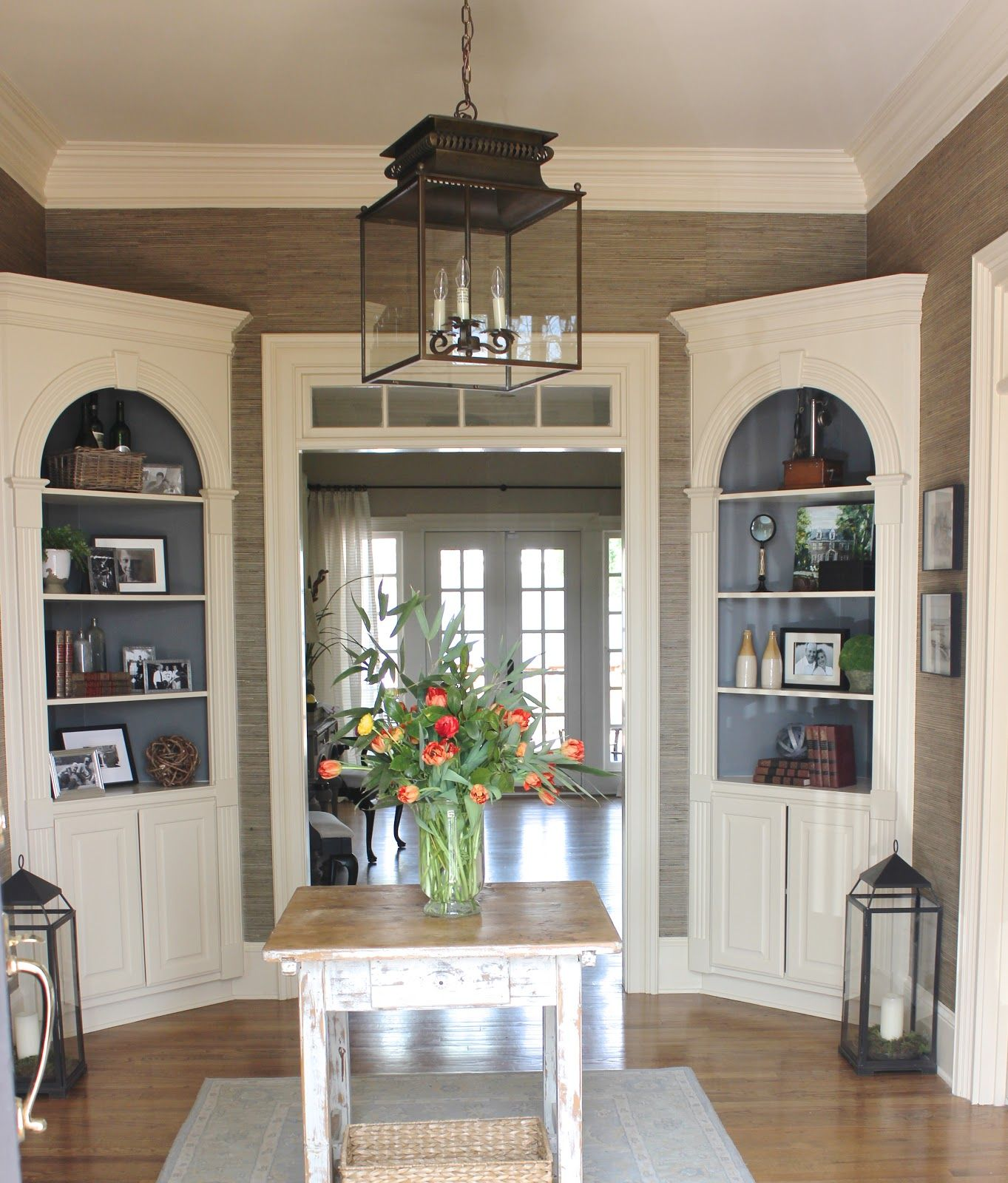 Before And After Of The Foyer Dining Room Corner Corner Cabinet Dining Room Dining Room Buffet