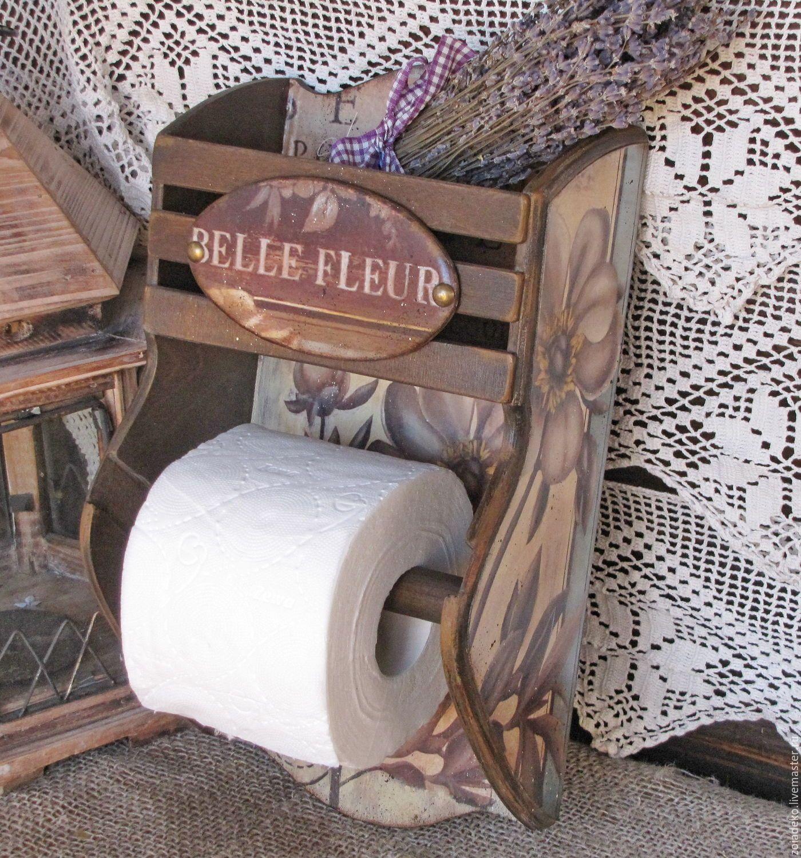 """Купить Держатель для т/б """"BELLE FLEUR"""" - коричневый, полочка, держатель, держатель для бумаги"""
