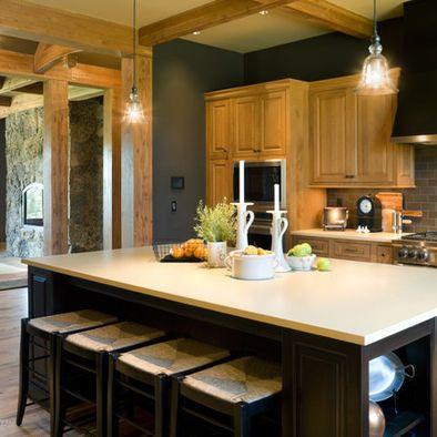 Modern Kitchen Colors 25 glamorous gray kitchens | honey oak cabinets, honey and dark