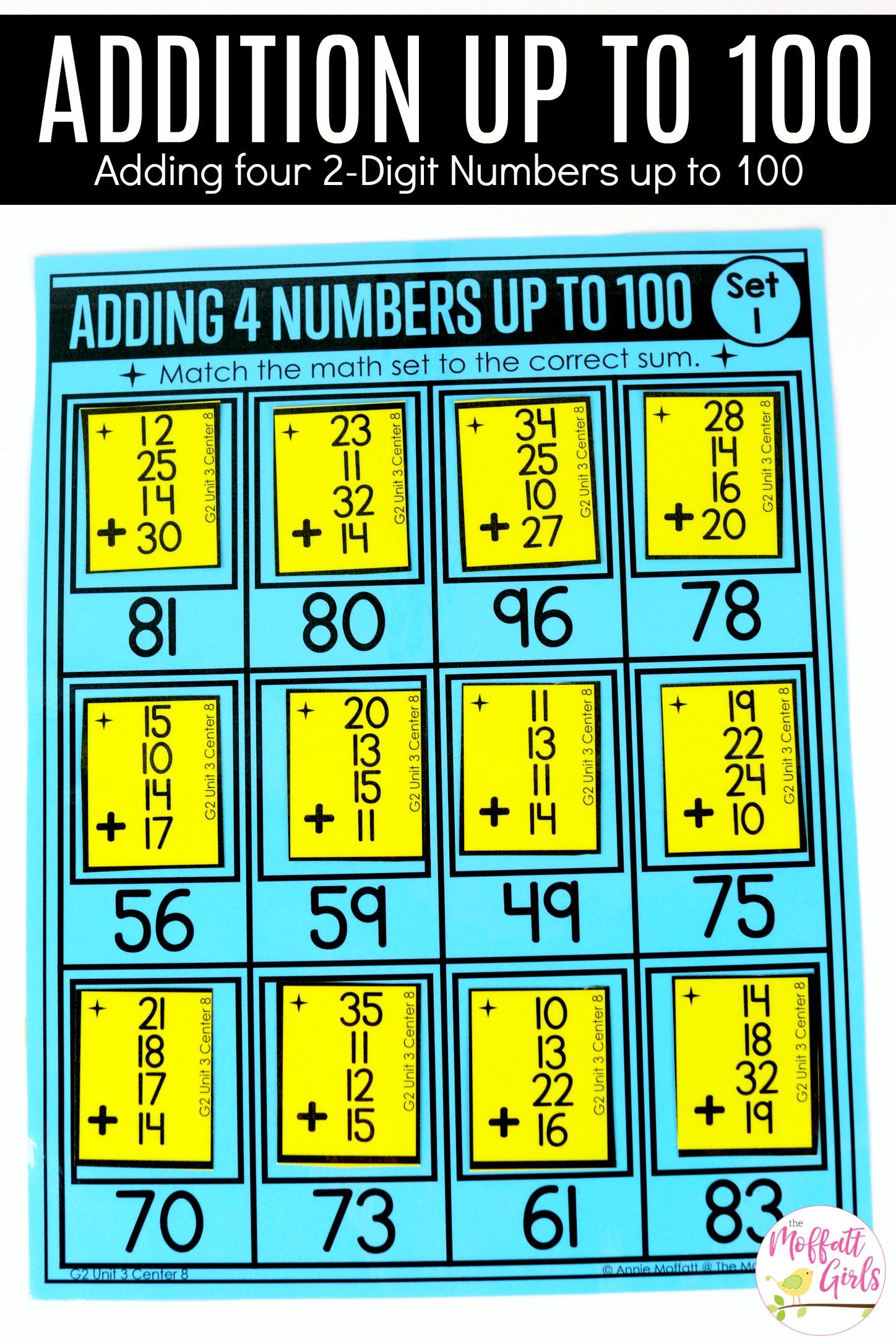 Addition And Subtraction Fluency Up To 100 For 2nd Grade