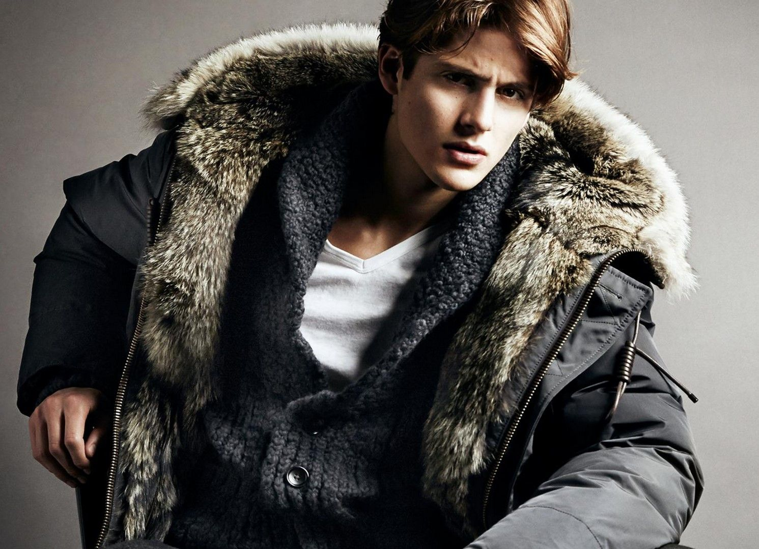 tom ford autumn winter 2014 fur lined military parka | fashion ...