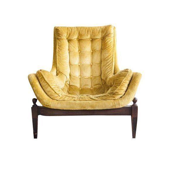Mid Century Yellow Velvet Tufted Bucket Chair Bucket Chairs Vintage Office Chair Velvet Chair