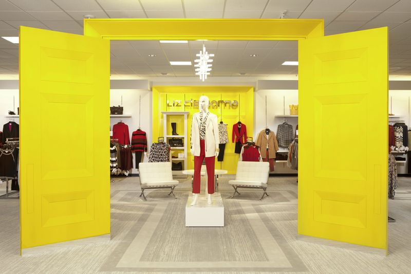 Liz Claiborne has a new home at jcpenney. The Shop\'s modern décor ...