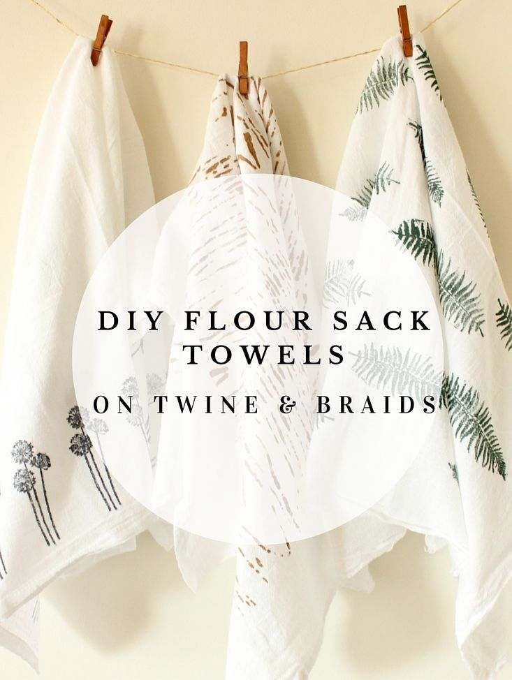 DIY Flour Sack Towels // Tea Towels // Dish Towels // Stamps And