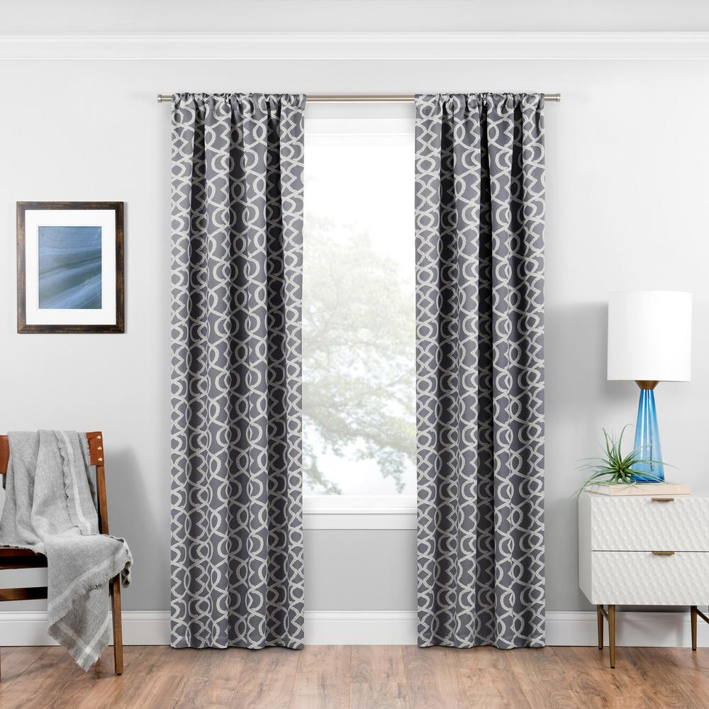Eclipse Isanti Blackout Window Curtain Panel In Grey 37 In W X 95 In L 16430037095gre Panel Curtains Curtains Blackout Curtains