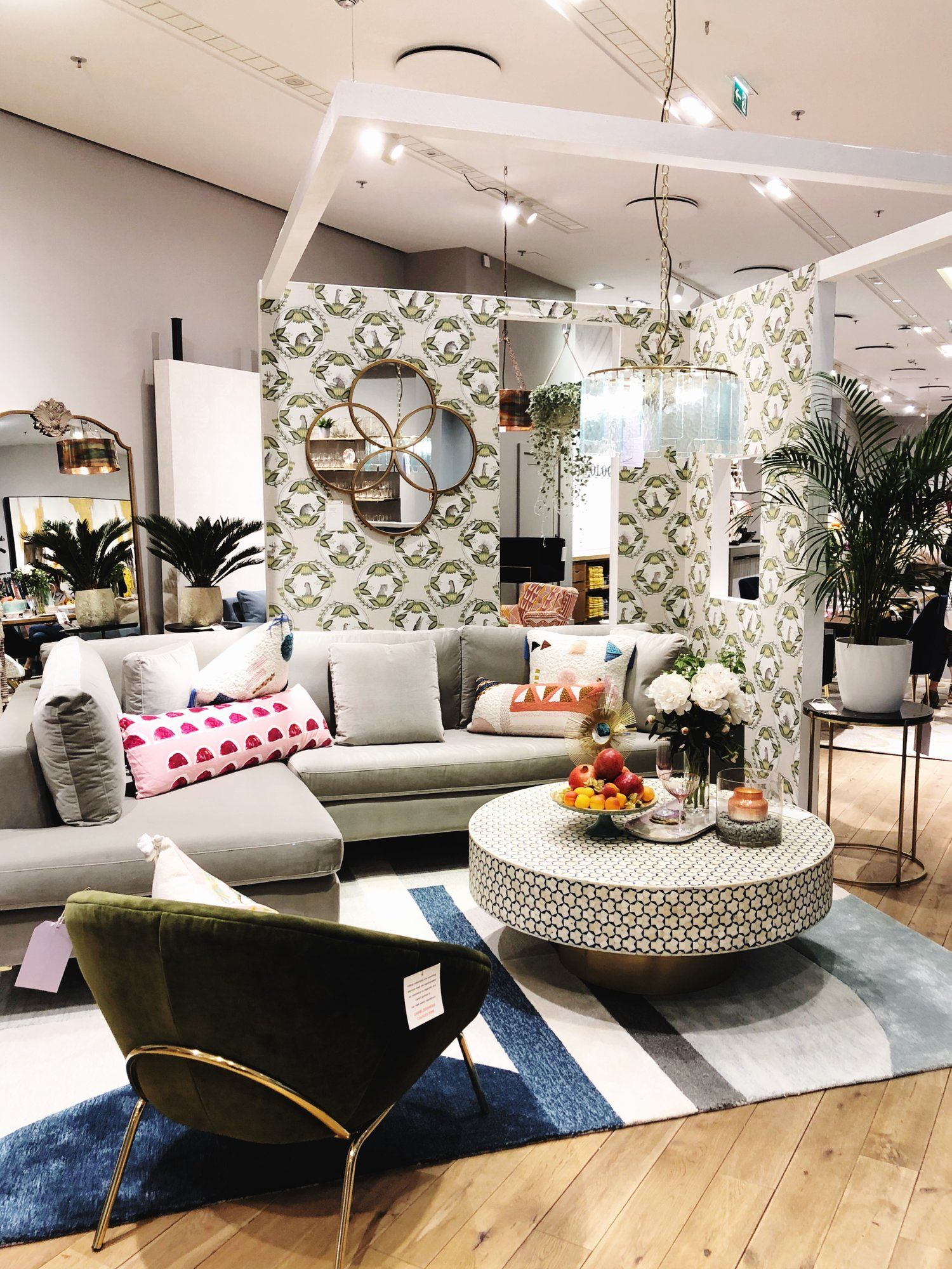 Anthropologie Opens First Store In Germany Dusseldorf Decor8 Anthropologie Living Room Create Your House Rustic Sofa