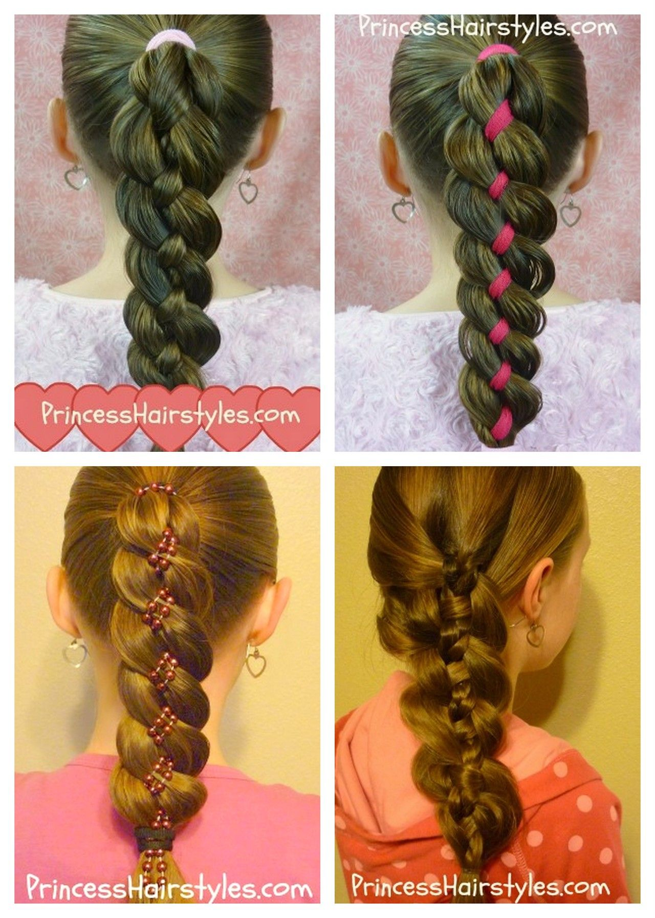 diy 4 strand hair braid video tutorial from princess