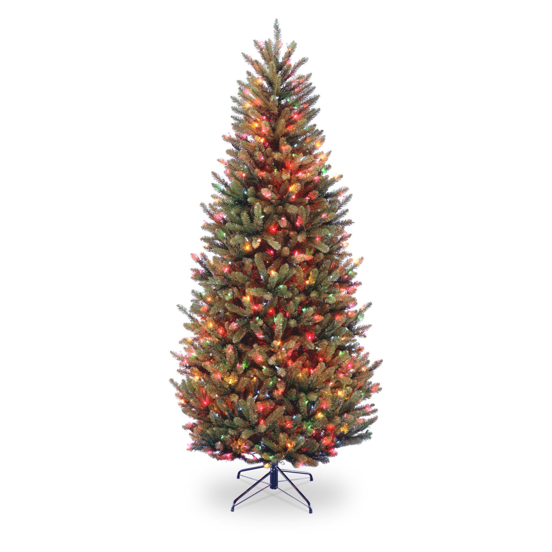 Best Deal On Artificial Christmas Trees: 7.5 Ft. Natural Fraser Slim Fir Hinged Pre-Lit Christmas