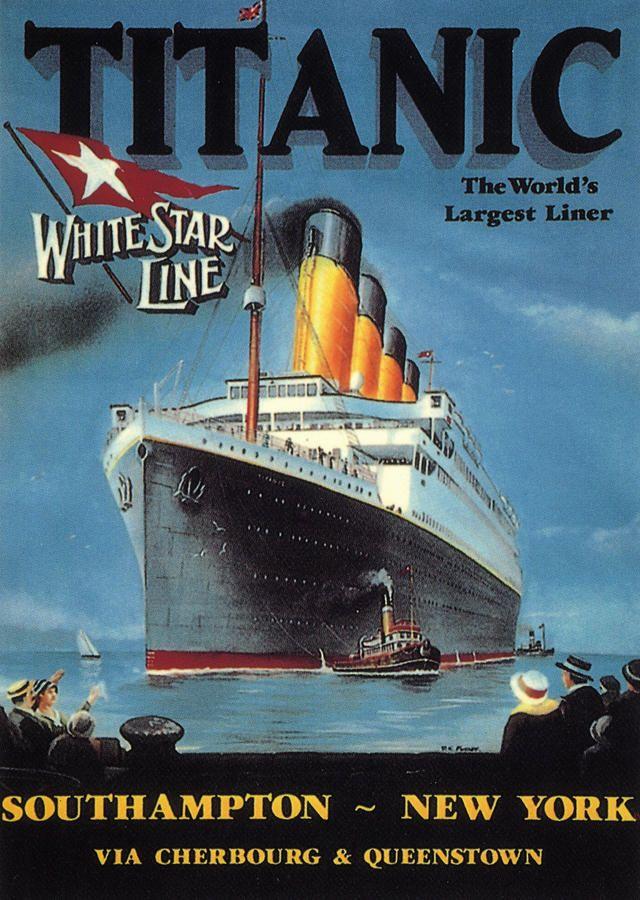 Titanic Poster -- 1912. | Titanic poster, Ship poster